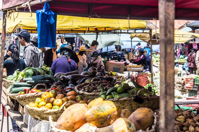 Colombia Villa De Leyva Mercado Verduras