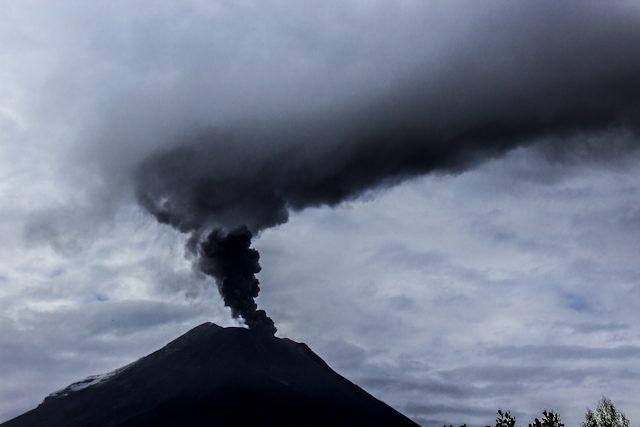 Baños Tungurahua Erupcion Diurna