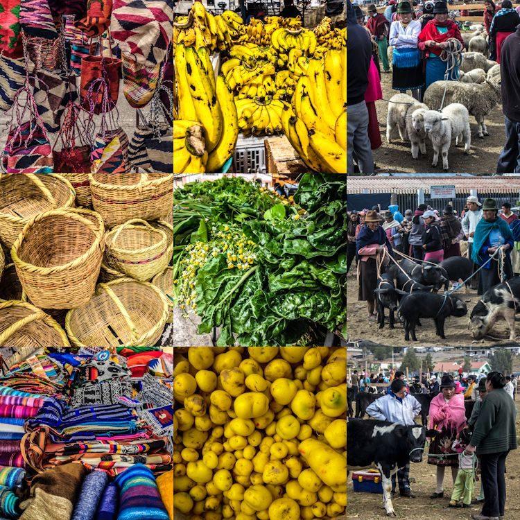 Quito Saquisili Mercado Artesanía Comida Ganado