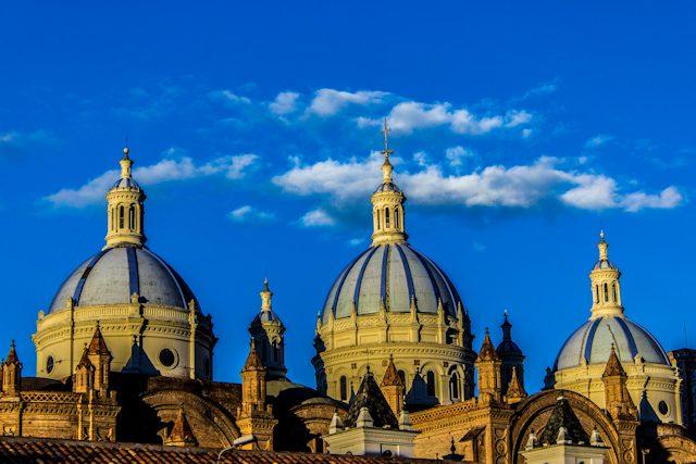 Cuenca Nueva Catedral Cupulas Puesta de Sol