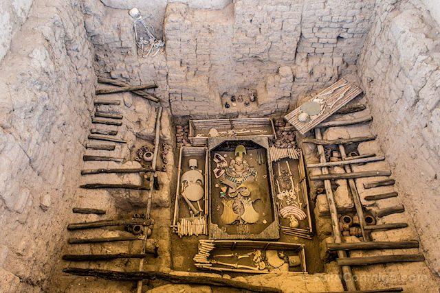 Huaca Rajada Tumba Señor De Sipan Representacion