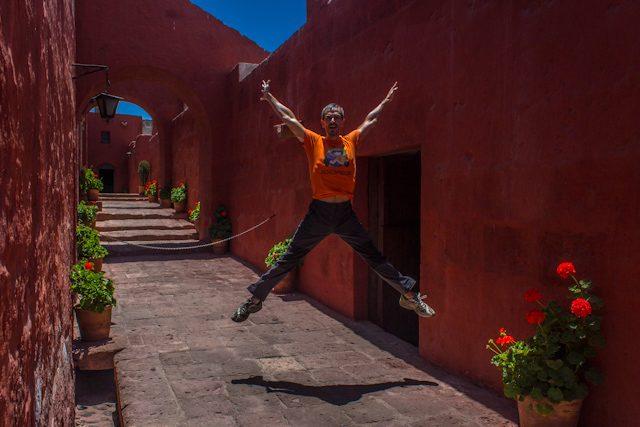 Arequipa Monasterio Santa Catalina Calles Rojo Salto