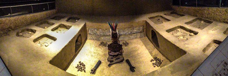 Chiclayo Museo Nacional Sican Maqueta Tumba Oeste Senor