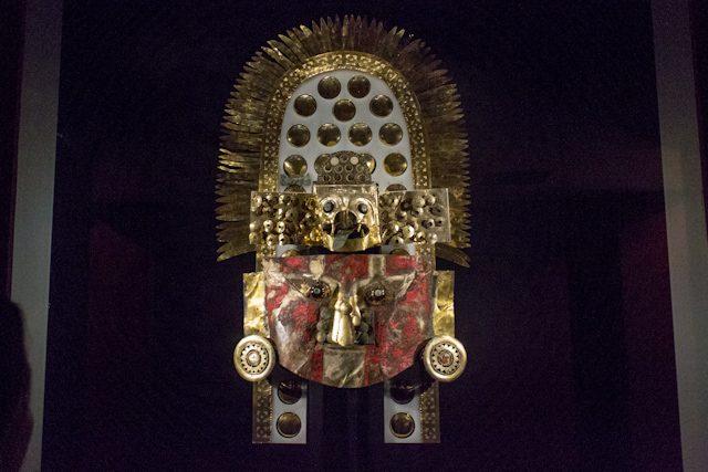 Chiclayo Museo Nacional Sican Oro Mascara Funeraria