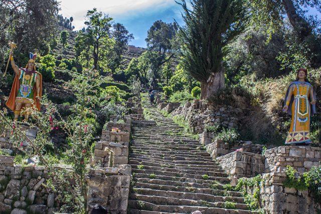 Isla del Sol Sur Escalera Piedra Inca