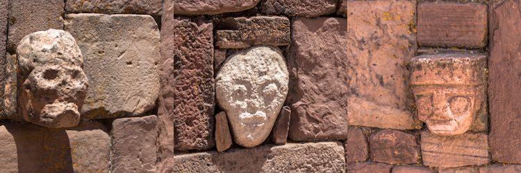 Tiahuanaco Templo Templete Semisubterraneo Mosaico Caras