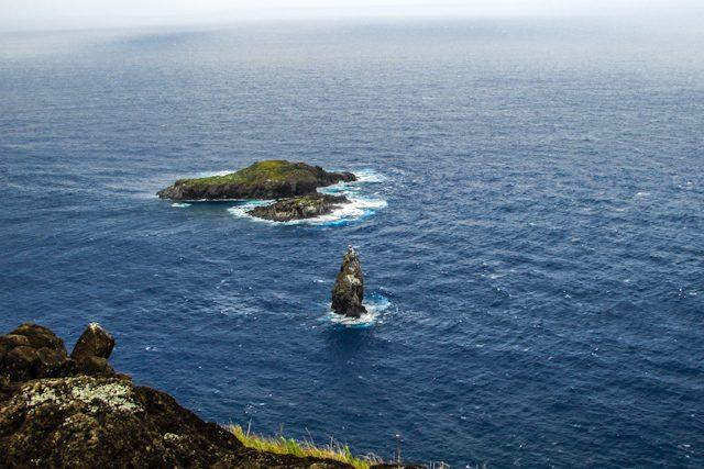 Isla De Pascua Islotes Motu Nui Hombre Pajaro
