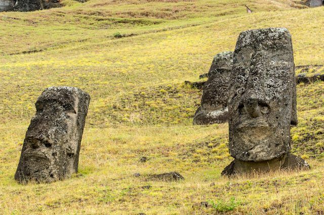 Isla De Pascua Rapa Nui Raro Raraku Cantera Moai