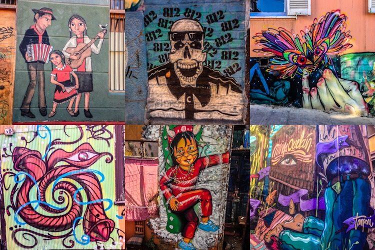 Valparaiso Grafitis Mosaico
