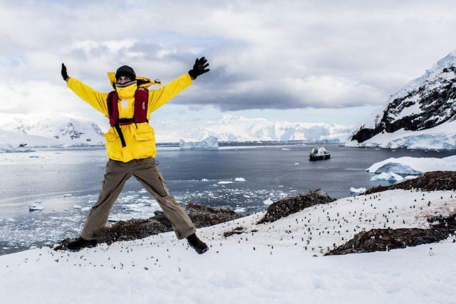 Antartida Neko Harbour Salto
