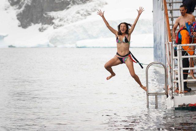 Antartida Sara Polar Plunge