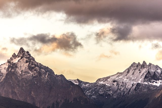 Argentina Ushuaia Puesta Sol Montaña