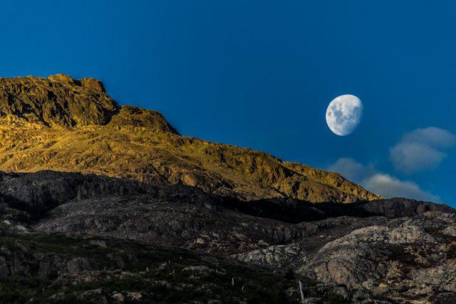 Chile Futaleufu Puesta Sol Luna