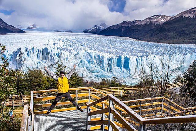 Argentina El Calafate Glaciar Perito Moreno Salto