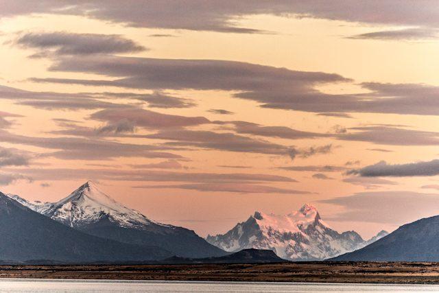 Chile Puerto Natales Amanecer Fiordo Ultima Esperanza