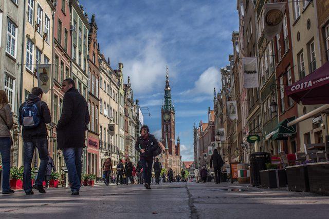 Polonia Gdansk Calle Dluga