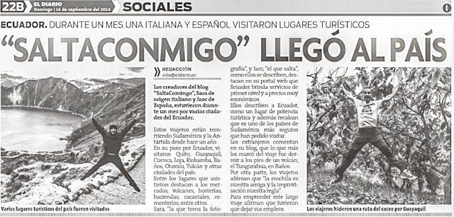 El Diario Ecuador 14/09/14