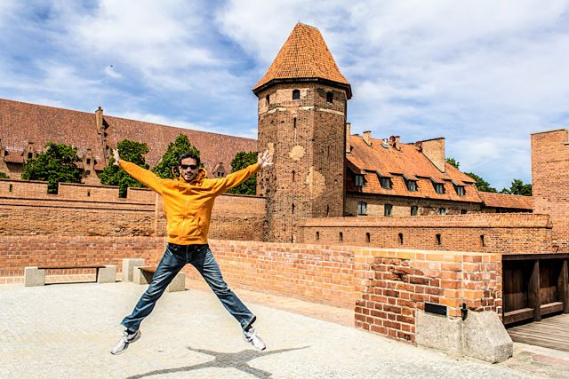 Polonia Castillo Malbork Entrada Salto