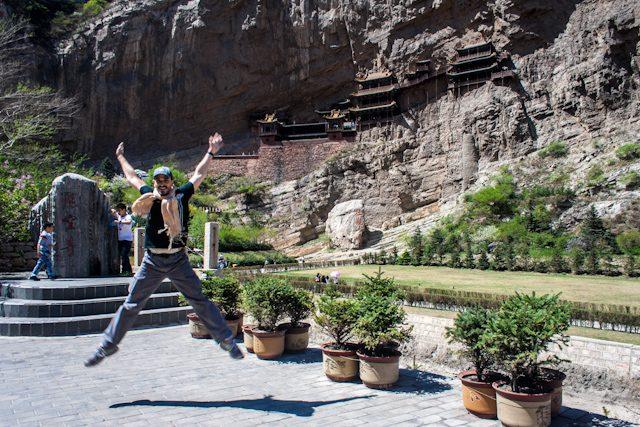 China Datong Monasterio Colgante Salto