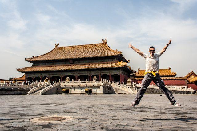 China Pekin Templo Ciudad Prohibida Salto
