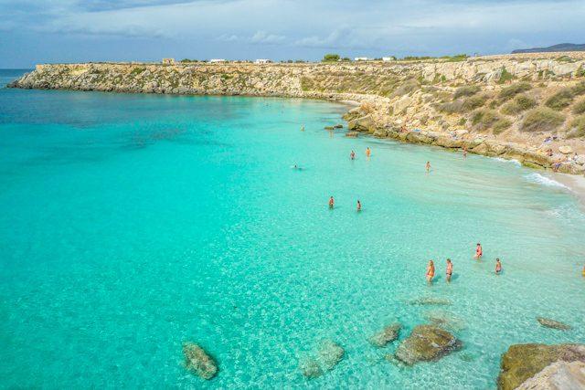 Italia Sicilia Favignana Playa