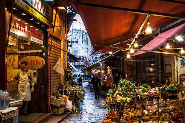 Italia Sicilia Palermo Mercado