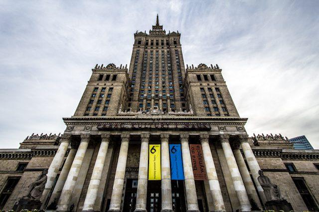Polonia Varsovia Palacio de la Cultura y la Ciencia Abajo