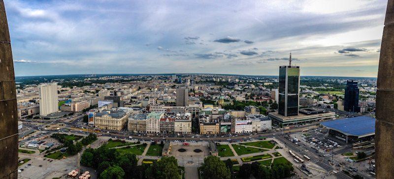 Polonia Varsovia Palacio de la Cultura y la Ciencia Panorama