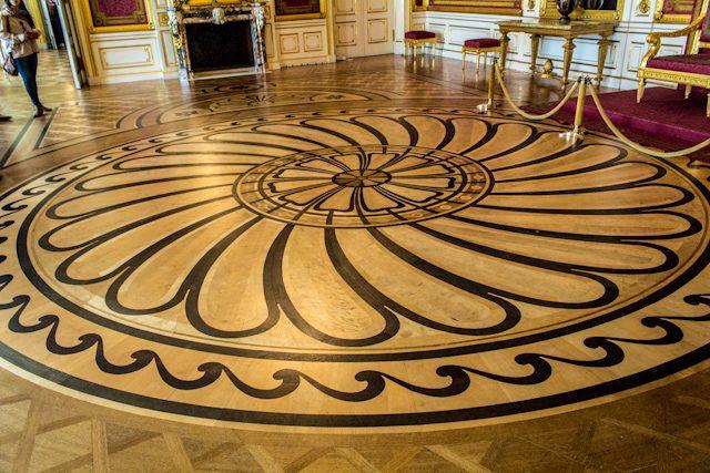 Polonia Varsovia Palacio Real Suelo Madera