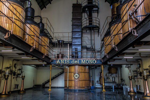 Barcelona Badalona Anis del Mono Sala Destilacion
