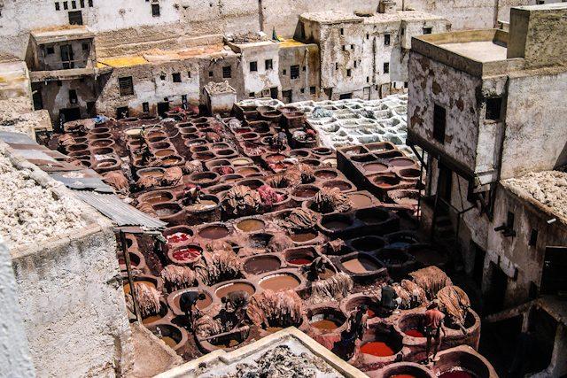 Marruecos Fez Medina Curtidores Chouwara