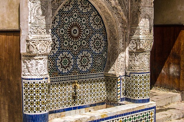 Marruecos Fez Medina Fuente