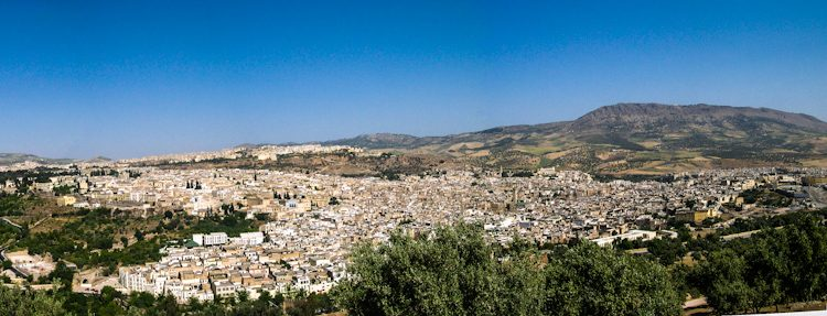 Marruecos FezMedina Panorama
