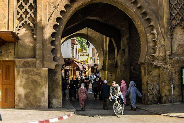 Marruecos Fez Muralla Puerta Medina