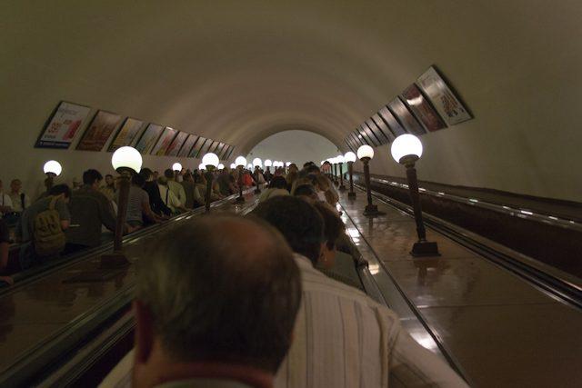 Moscu Metro Escaleras Mecanicas
