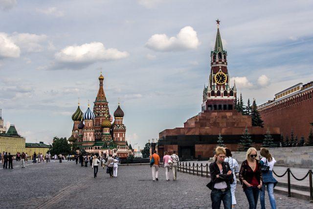 Moscu Plaza Roja Kremlim San Basilio