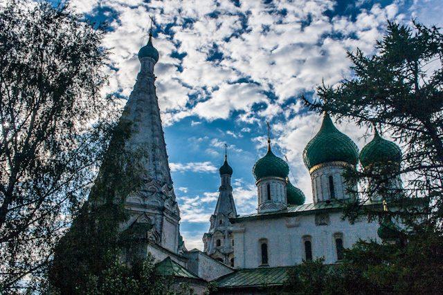 Rusia Yaroslavl Iglesia Elias Profeta Cupulas