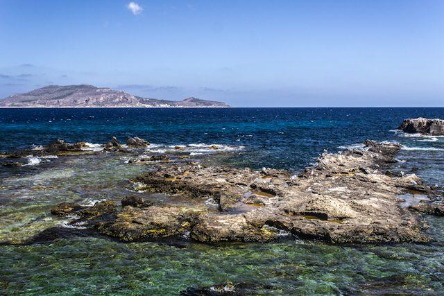 Favignana Sicilia Italia Colores del Mar