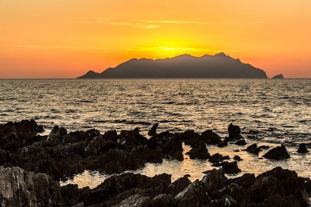 Favignana Sicilia Italia Tramonto Punta Sottile