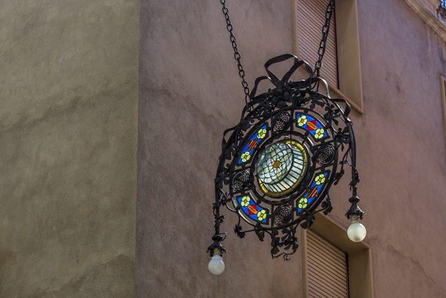 Barcelona Vilafranca Penedes Medallon Calle Santa Maria Modernismo