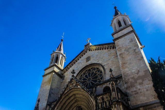 Barcelona Vilafranca Penedes Basilica Santa Maria Fachada