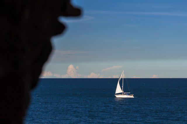 Sur Francia Colliure Fuerte Mirador Mar Barca