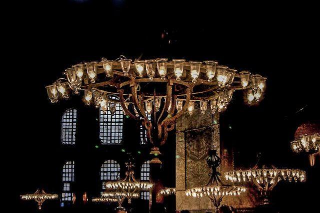Estambul Santa Sofia Interior Luces
