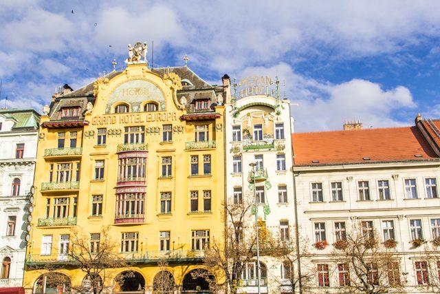 Praga alternativa Hotel Europa modernista
