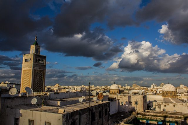 Tunez Medina Minarete Gran Mezquita