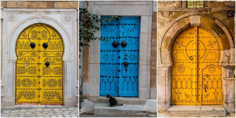 Tunez Medina Puertas Colores