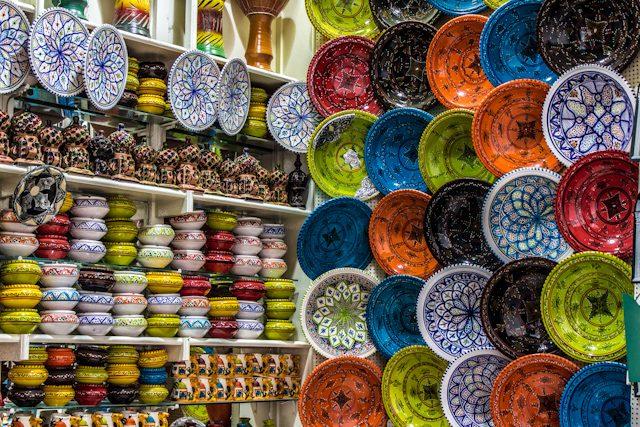 Tunez Medina Puesto Zoco Ceramica
