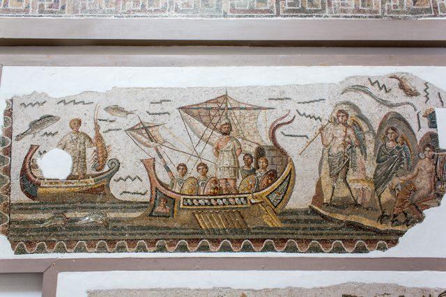 Tunez Museo Bardo Mosaico Ulises