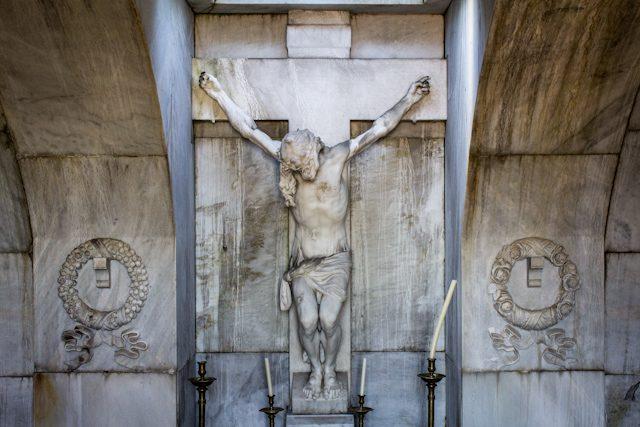 Madrid Cementerio San Isidro Cristo Benlliure Completo