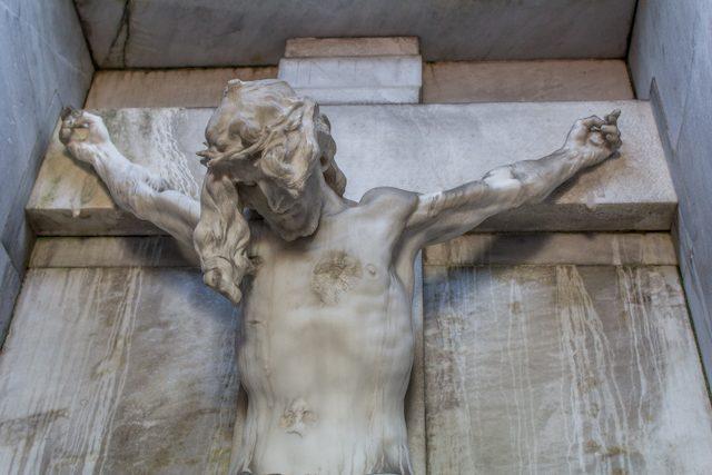 Madrid Cementerio San Isidro Cristo Benlliure Detalle